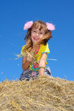άχυρο κοριτσιών στοκ φωτογραφίες με δικαίωμα ελεύθερης χρήσης