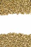 Άψητα φασόλια καφέ, που απομονώνονται στο άσπρο υπόβαθρο Στοκ εικόνα με δικαίωμα ελεύθερης χρήσης