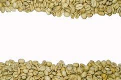 Άψητα φασόλια καφέ που απομονώνονται στο άσπρο υπόβαθρο Στοκ Φωτογραφία