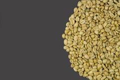 Άψητα φασόλια καφέ που απομονώνονται στο γκρίζο υπόβαθρο Στοκ εικόνες με δικαίωμα ελεύθερης χρήσης