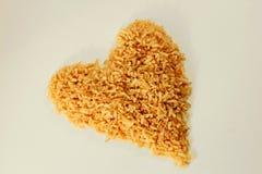 Υγιές καφετί ρύζι καρδιών Στοκ εικόνα με δικαίωμα ελεύθερης χρήσης