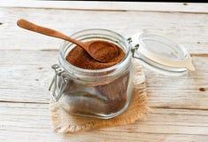 Άψητο σιτάρι teff σε ένα βάζο γυαλιού Στοκ φωτογραφίες με δικαίωμα ελεύθερης χρήσης