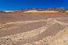 άψυχη αμερικανική κοιλάδα τοπίων θανάτου Καλιφόρνιας Στοκ Φωτογραφίες