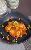 Άλας και τηγανισμένο πιπέρι tofu Στοκ Εικόνα