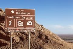 Άλας dela οροσειρών στην έρημο Atacama, Χιλή στοκ φωτογραφία με δικαίωμα ελεύθερης χρήσης