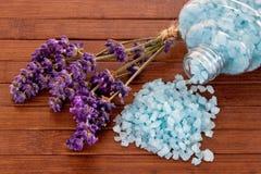 Άλατα λουτρών με lavender Στοκ Εικόνες