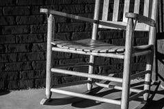 Άδεια θέση μιας λικνίζοντας έδρας στοκ φωτογραφία