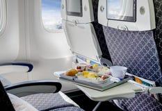 Άδειες θέσεις σε ένα σύγχρονο αεροπλάνο Στοκ Φωτογραφίες