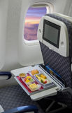 Άδειες θέσεις σε ένα σύγχρονο αεροπλάνο Στοκ εικόνα με δικαίωμα ελεύθερης χρήσης