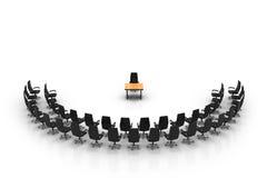Άδειες θέσεις στην αίθουσα συνεδριάσεων Στοκ φωτογραφία με δικαίωμα ελεύθερης χρήσης