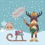 Άλκες Χριστουγέννων Στοκ εικόνες με δικαίωμα ελεύθερης χρήσης