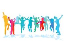 Άλμα παιδιών διασκέδασης Στοκ εικόνες με δικαίωμα ελεύθερης χρήσης