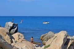 Άλμα στη θάλασσα Στοκ Εικόνες
