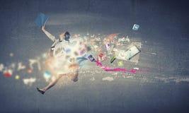 Άλμα στις μελλοντικές τεχνολογίες Στοκ φωτογραφία με δικαίωμα ελεύθερης χρήσης