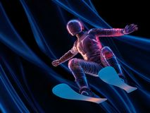 Άλμα στο σκι Στοκ φωτογραφία με δικαίωμα ελεύθερης χρήσης