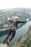 Άλμα σχοινιών , bungee Στοκ φωτογραφία με δικαίωμα ελεύθερης χρήσης