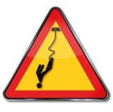 Άλμα bungee προειδοποίησης Στοκ φωτογραφίες με δικαίωμα ελεύθερης χρήσης