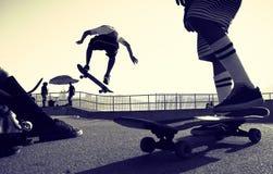 Άλμα Skateboarder Στοκ εικόνα με δικαίωμα ελεύθερης χρήσης