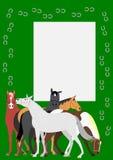 Άλογα με το πεταλοειδές πλαίσιο απεικόνιση αποθεμάτων