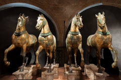 Άλογα των σημαδιών Αγίου, Βενετία Στοκ Φωτογραφία