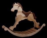 Άλογο λικνίσματος βιοτέχνη στο μαύρο υπόβαθρο Στοκ Εικόνες