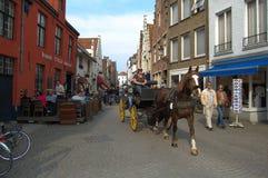 Άλογο και λεωφορείο Στοκ Εικόνες