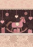 Άλογο και δώρα Χριστουγέννων Στοκ εικόνες με δικαίωμα ελεύθερης χρήσης