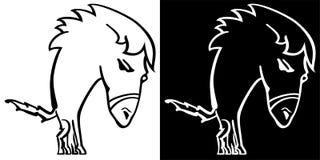 Άλογο κινούμενων σχεδίων Στοκ εικόνες με δικαίωμα ελεύθερης χρήσης