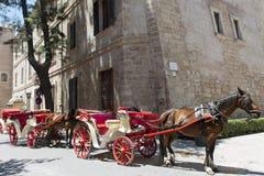 Άλογο-μεταφορά, Majorca Στοκ εικόνα με δικαίωμα ελεύθερης χρήσης