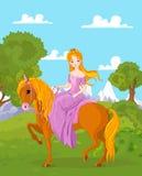 Άλογο οδήγησης πριγκηπισσών Στοκ Εικόνες