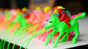 Άλογο παιχνιδιών για τα παιδιά Στοκ Φωτογραφία