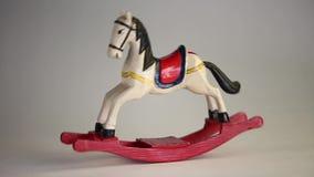 Άλογο παιχνιδιών απόθεμα βίντεο