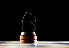 Άλογο σκακιού στη σκακιέρα Στοκ φωτογραφίες με δικαίωμα ελεύθερης χρήσης