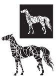 Άλογο στο σχεδιάγραμμα Στοκ Εικόνα