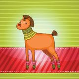 Άλογο Χριστουγέννων. Απεικόνιση διακοπών Στοκ Εικόνες