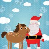 Άλογο Χριστουγέννων. Απεικόνιση διακοπών Στοκ φωτογραφία με δικαίωμα ελεύθερης χρήσης