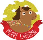 Άλογο Χριστουγέννων. Απεικόνιση διακοπών Στοκ εικόνα με δικαίωμα ελεύθερης χρήσης