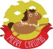 Άλογο Χριστουγέννων. Απεικόνιση διακοπών Στοκ φωτογραφίες με δικαίωμα ελεύθερης χρήσης