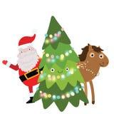 Άλογο Χριστουγέννων. Απεικόνιση διακοπών Στοκ Φωτογραφίες