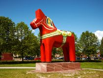 Άλογο Dalecarlian Στοκ φωτογραφία με δικαίωμα ελεύθερης χρήσης