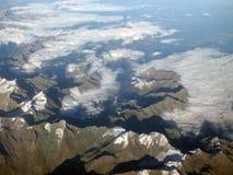 Άλπεις από τον αέρα Στοκ εικόνα με δικαίωμα ελεύθερης χρήσης