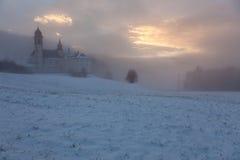 Άδυτο στην ομίχλη Στοκ εικόνες με δικαίωμα ελεύθερης χρήσης