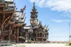 Άδυτο Pattaya της αλήθειας Στοκ φωτογραφίες με δικαίωμα ελεύθερης χρήσης