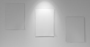 3 έγγραφα εν πλω με το κάτω φως Στοκ εικόνες με δικαίωμα ελεύθερης χρήσης
