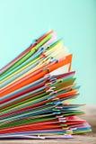 Έγγραφα με τα paperclips Στοκ Φωτογραφία