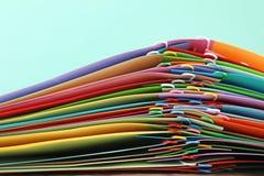 Έγγραφα με τα paperclips Στοκ εικόνα με δικαίωμα ελεύθερης χρήσης