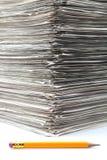 Έγγραφα που συσσωρεύονται Στοκ Εικόνα