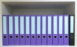 Έγγραφα φακέλλων αρχείων που τοποθετούνται στα έγγραφα γραφείων Στοκ Φωτογραφίες