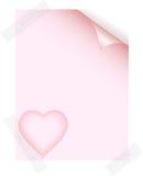 έγγραφο αγάπης διανυσματική απεικόνιση