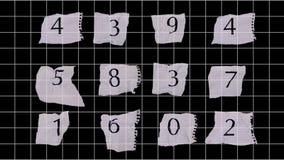 έγγραφο αριθμών γραφικών π&alpha απόθεμα βίντεο